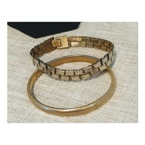 Women's Gold Tone Bracelets! Set of 2